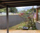 モデルハウスの庭です、、、